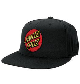 Santa Cruz Classic Dot Flexfit® Fitted Stretch Hat Santa Cruz, Black, Sm/Med