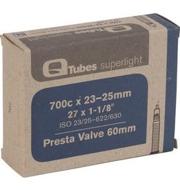 Q-Tubes Superlight 700c x 23-25mm 60mm Presta Valve Tube