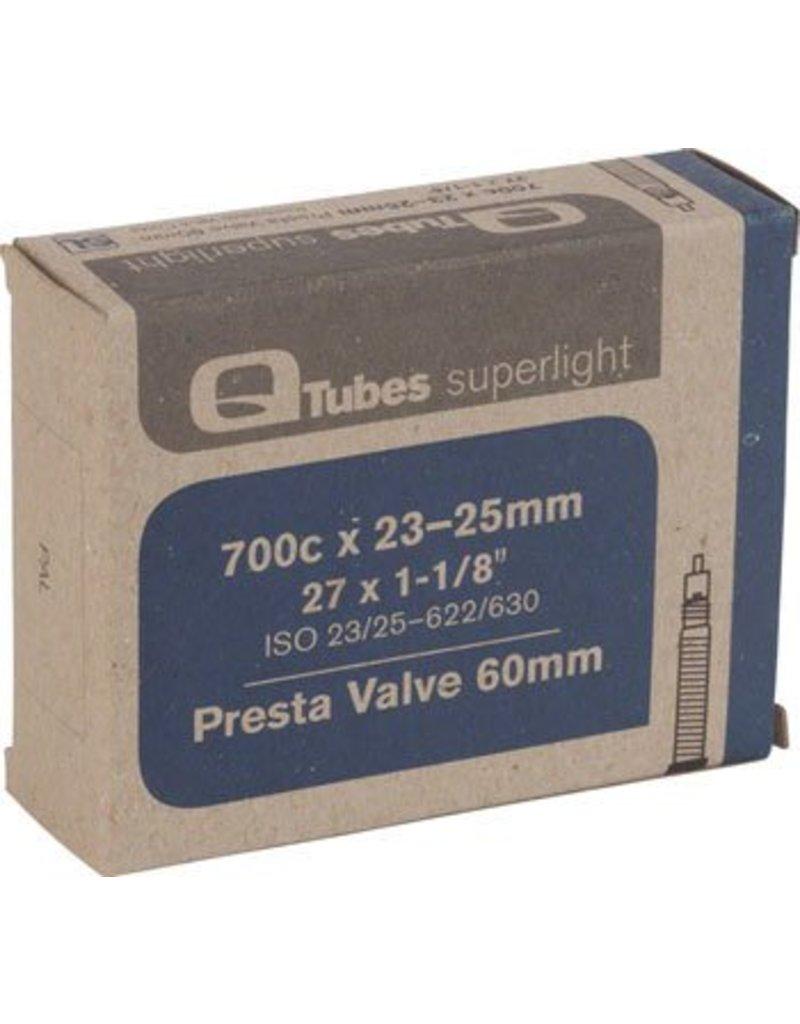 700x23-25mm Q-Tubes Superlight 60mm Presta Valve Tube