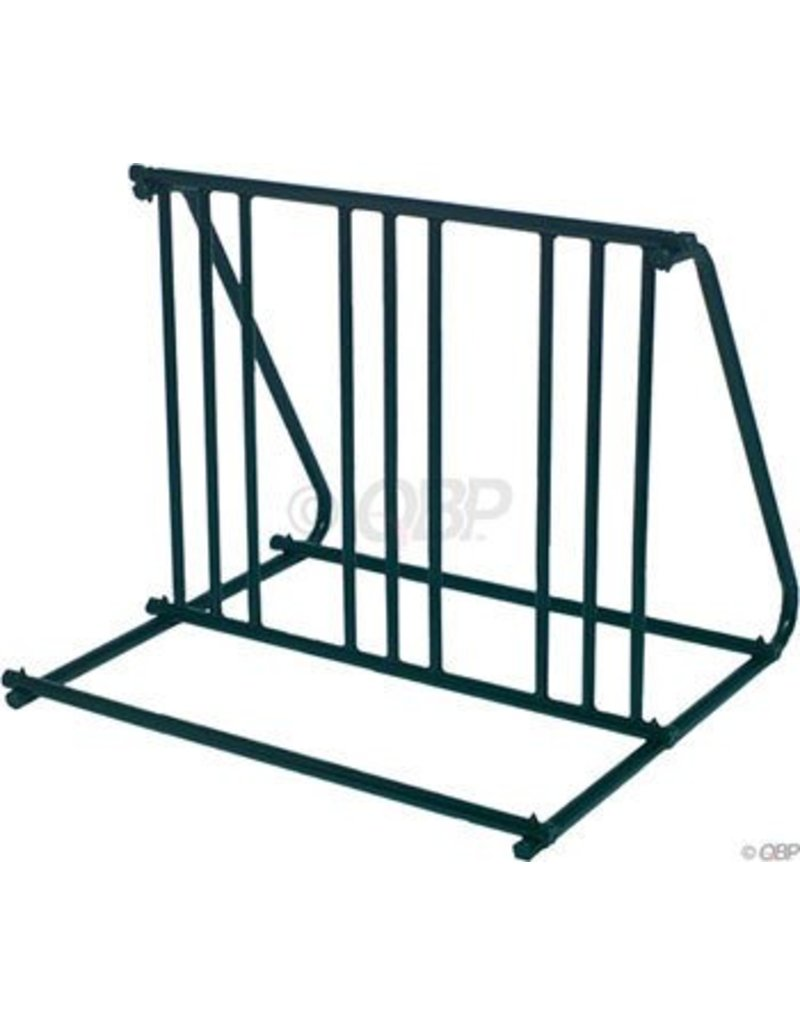 Graber Mighty Mite Parking Stand: Holds 6 Bikes Black