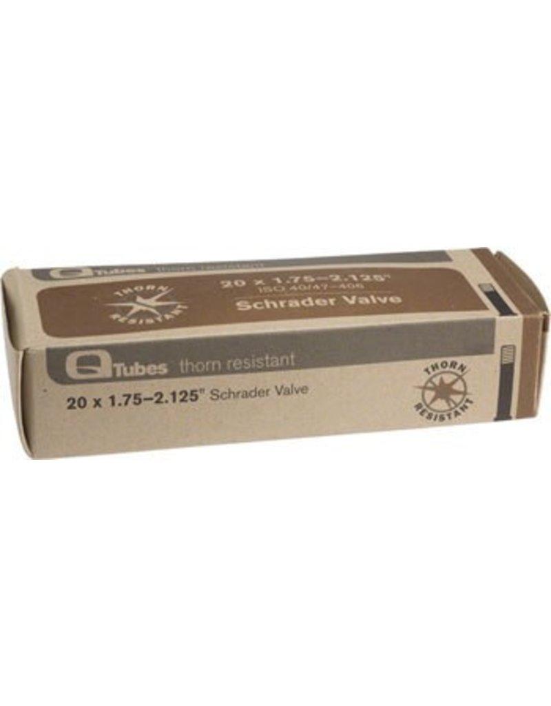 20x1.75-2.125 Q-Tubes Thorn Resist Schrader Valve Tube 475g *Low Lead Valve*