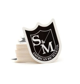 S&M MED SHIELD STICKERS, BLACK/WHT, 100 PACK
