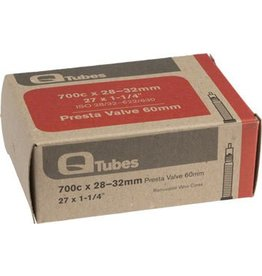Q-Tubes 700c x 28-32mm 60mm Presta Valve Tube 129g