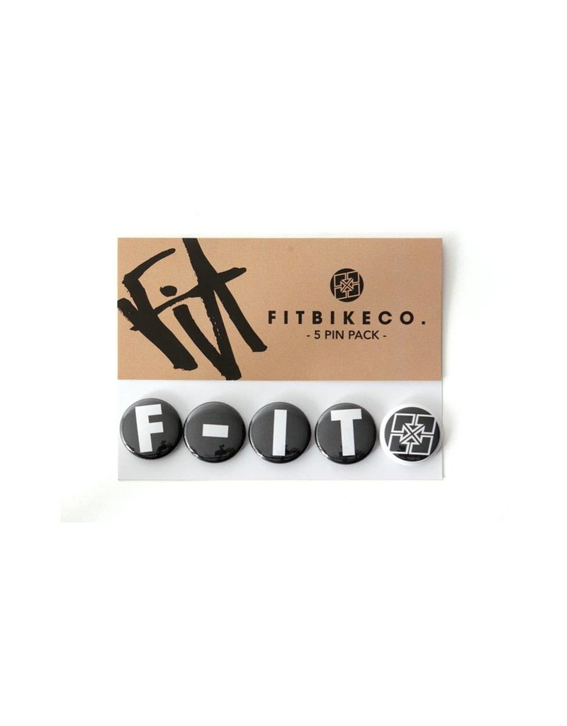 "Fit Bike Co FIT 1"" BUTTONS 5 PACK"