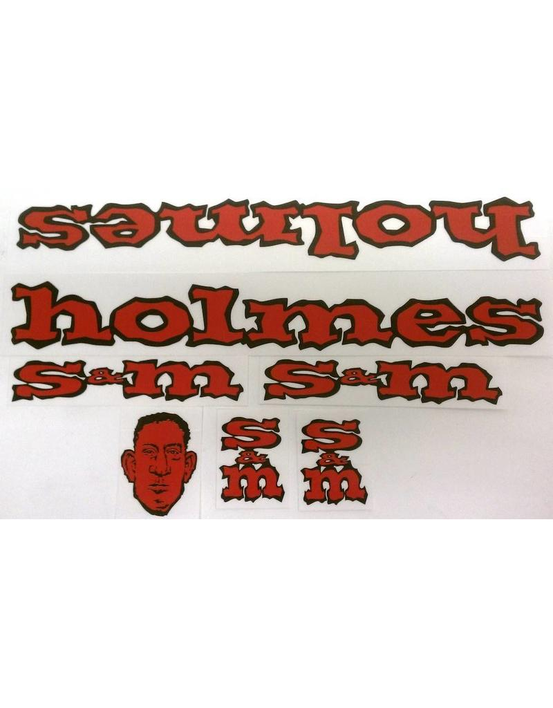 S&M S&M Retro Holmes Face Decal Set