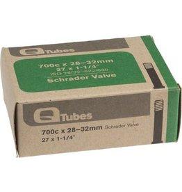 """700x28-32mm Q-Tubes Schrader Valve Tube 128g (27 x 1-1/4"""")"""