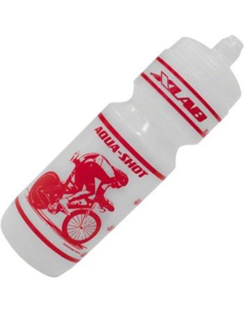 XLAB XLAB Aqua Shot Race Water Bottle: Clear/Red