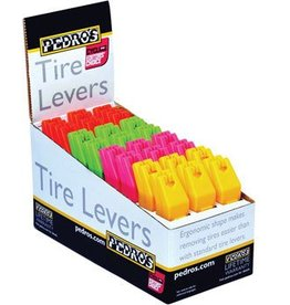 Pedro's Pedro's Tire Levers 24 Pack 4 Color Tire Lever Counter Display, Red, Pink, Green, Yellow
