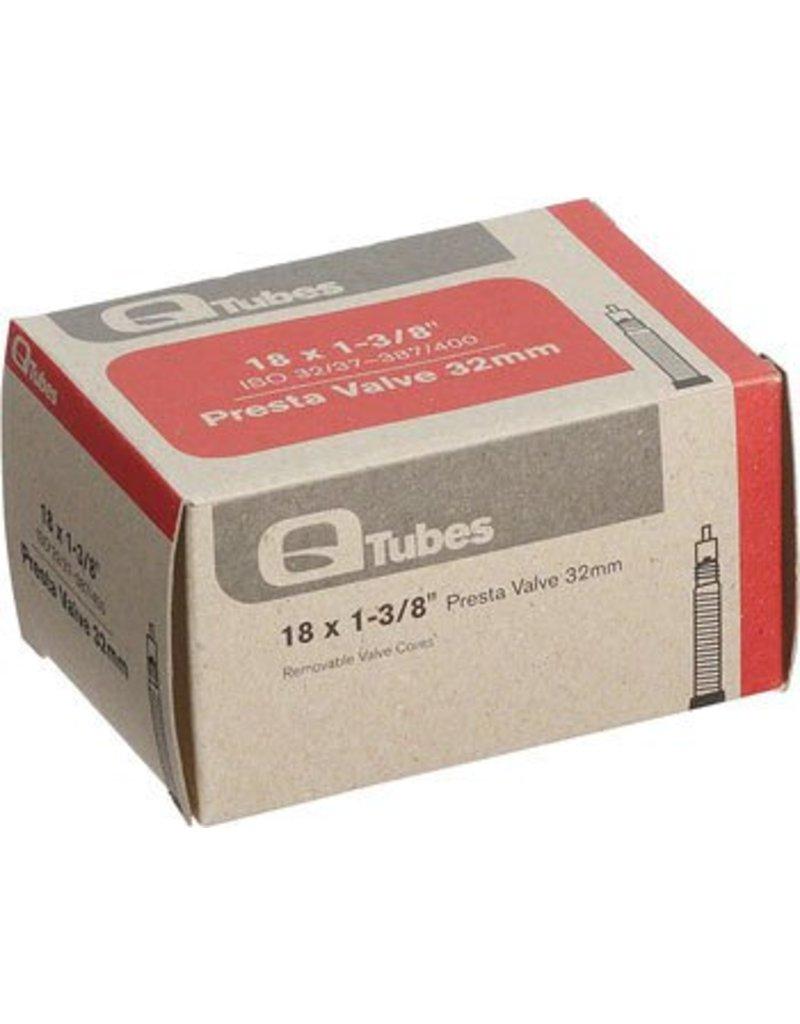 18x1-3/8 Q-Tubes 32mm Presta Valve Tube  98g
