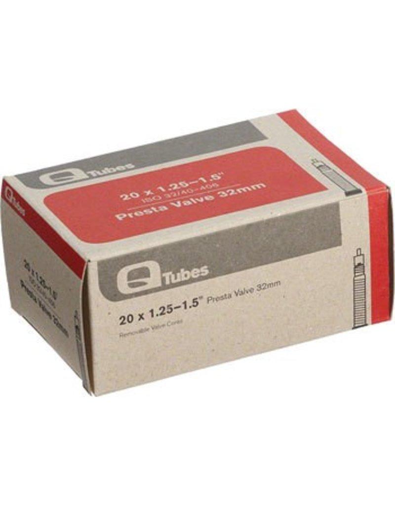 20x1.25-1.5 Q-Tubes 32mm Presta Valve Tube 92g