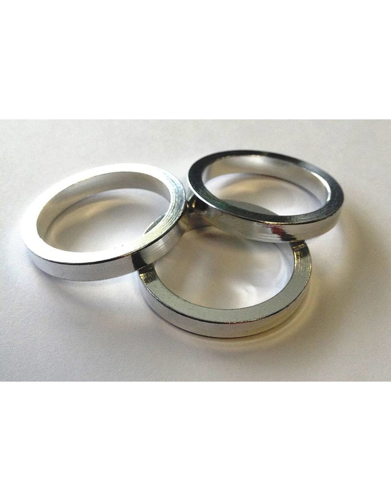 S&M HEADSET SPACER KIT 3PK OF 5MM SILVER