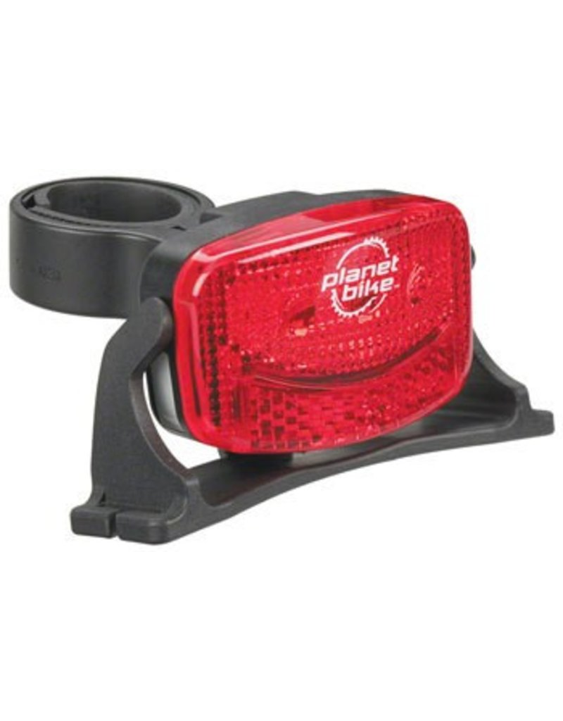 Planet Bike Planet Bike Blinky 3H, 3 LED Helmet Taillight: Red/Black