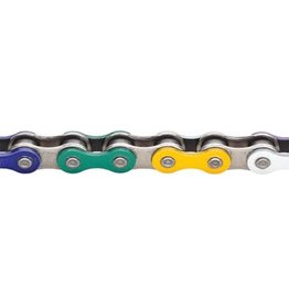 "KMC KMC Z510HX Chain: 1/8"" 112 Links Rainbow"