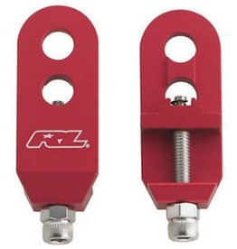 "Redline REDLINE BMX Alloy Chain Tensioners 3/8"", Pair Red"