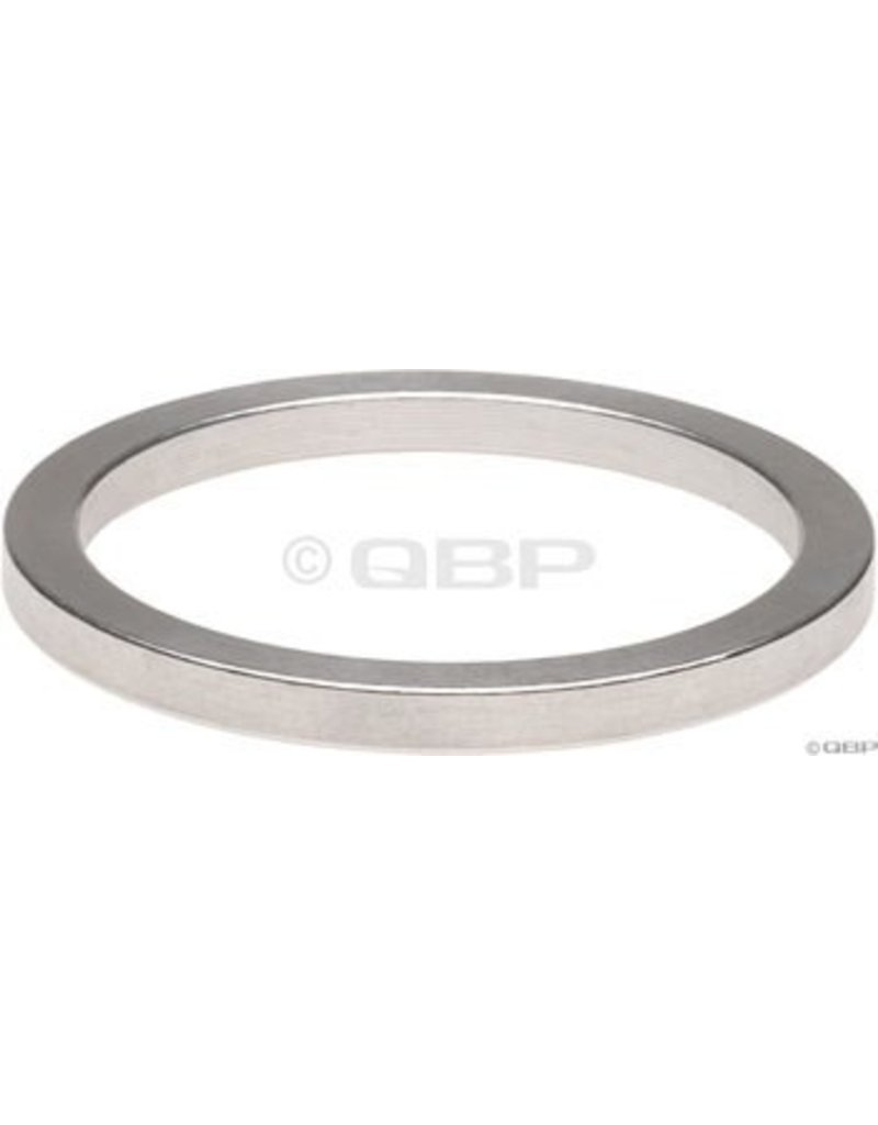 """Wheels Manufacturing 2.5mm 1"""" Headset Spacer Silver Bag/10"""
