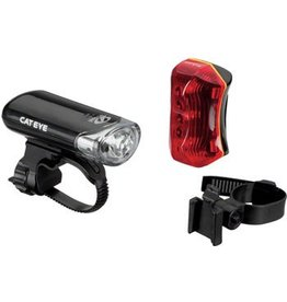 CatEye CatEye Headlight and Taillight Set EL130 / TL-170R: Black