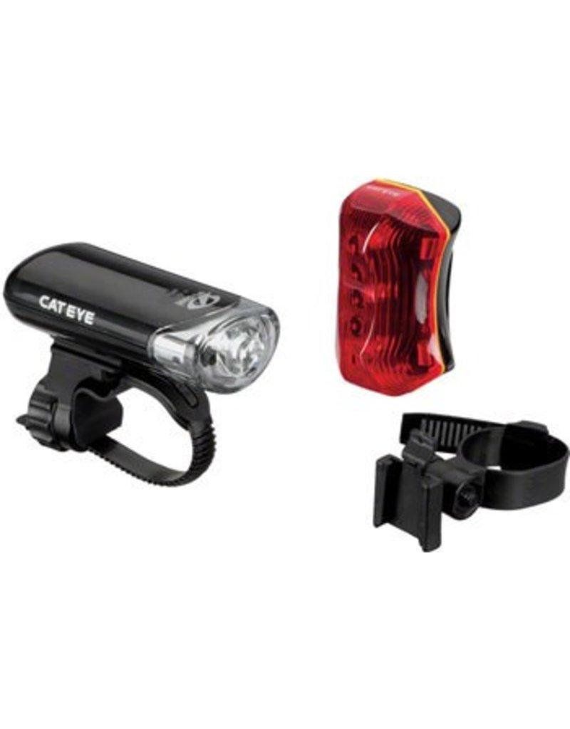 CatEye CatEye Headlight and Taillight Set EL130 / TL-170R: Black