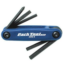 Park Tool Park AWS-9 Metric & Screwdriver Folding Wrench Set