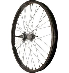 "Sta Tru Rear 20"" Black Coaster Brake Steel Rim Solid Axle 36 Spokes w/ Axle Nuts"