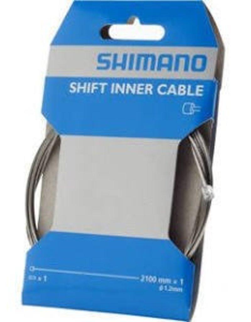 Shimano Shimano Zinc Derailleur Cable 1.2 x 2100mm