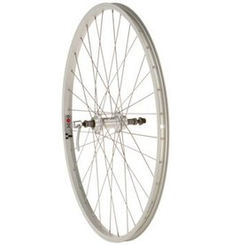 "Quality Wheels Value Series 1 Rear Wheel 26"" 135mm Freewheel / Alex Y2000 Silver"