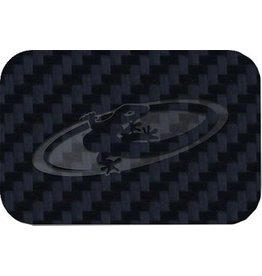 Lizard Skins Carbon Leather Frame Patch Kit, Adhesive, Pack of six, Black