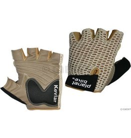 Planet Bike Planet Bike Taurus Fingerless Cycling Glove: Tan, MD