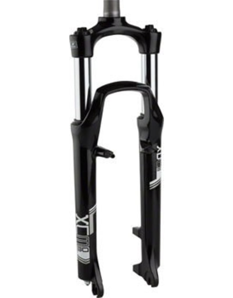 "SR Suntour SR Suntour XCM Fork: 26"", 1-1/8"" Threaded Steerer, 100mm Travel, Linear Pull and Disc, Black"