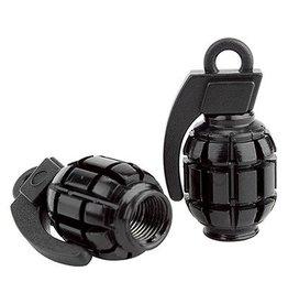 Black Ops Black Ops Valve Caps Grenade Shrader Black