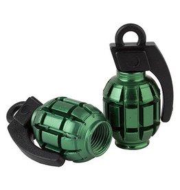 Black Ops Black Ops Valve caps Grenade Shrader Green