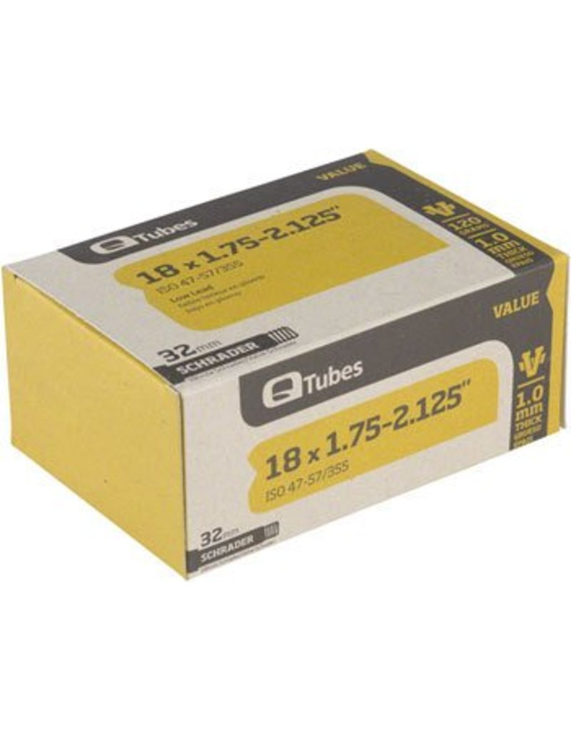 18x1.75-2.125 Q-Tubes Value Series Tube with Low Lead Schrader Valve
