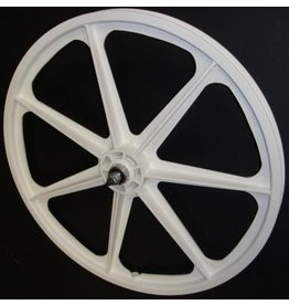 "Skyway Skyway 24"" Tuff Wheel Set, White - Freewheel"