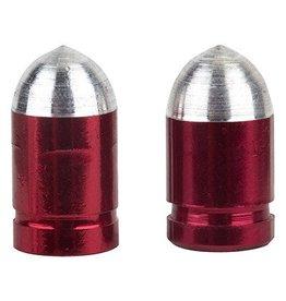 Trik Topz Trik Topz Valve Caps Presta Bullet Red 1pr