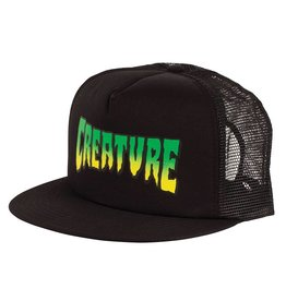 Creature Logo Stamp Trucker Mesh Hat Creature, Black