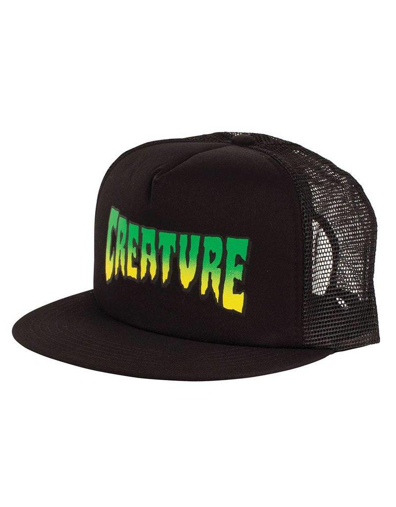 Creature Logo Stamp Trucker Mesh Hat Creature, Black
