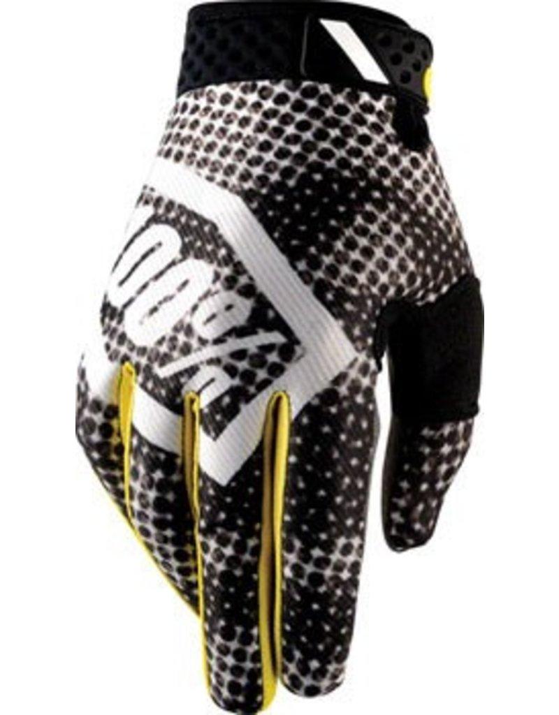 100% 100% Ridefit Full Finger Glove: Corpo Blurred Camo SM