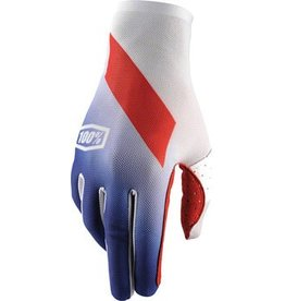 100% 100% Celium Full Finger Glove, Slant Blue, LG