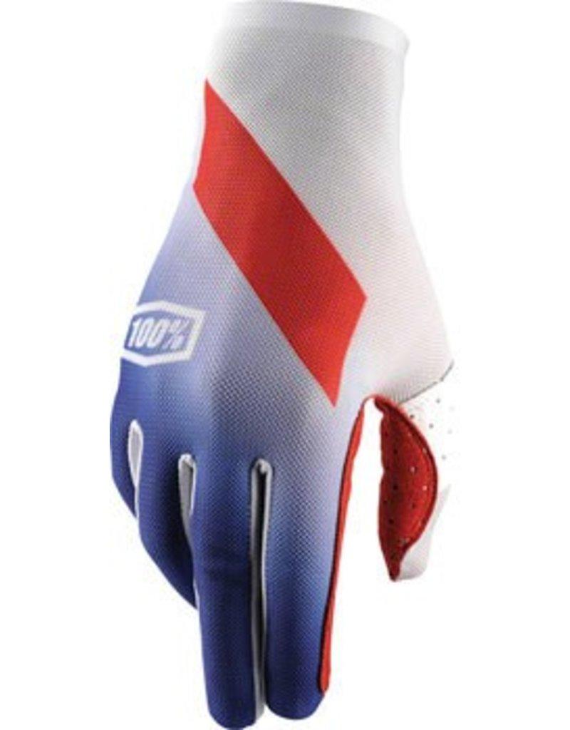 100% 100% Celium Full Finger Glove, Slant Blue, LG