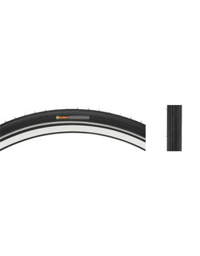 "Kenda Kenda K35 Street Tire with K-Shield: 27"" x 1 1/4"", Steel Bead, Black"