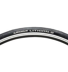 Michelin 700x23 Michelin Lithion 2 Tire Clincher, Folding, Black/Gray