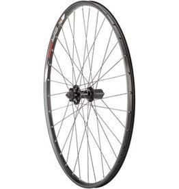 "Quality Wheels Value Double Wall Series Disc Rear Rear Wheel - 29"", QR x 135mm, 6-Bolt, HG 10, Black, Clincher"