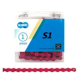 KMC KMC Chain S1 x 112L, Single Speed, Pink
