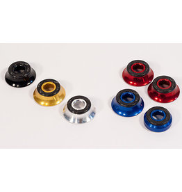 Profile Racing Profile Hub Cone Spacers for BMX 3/8″ Axles, Set (Front & Rear) Black