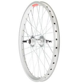 """Sta-Tru Double Wall Rear Wheel - 20"""", Bolt-On, 3/8 x 110mm, Flip Flop, Silver"""