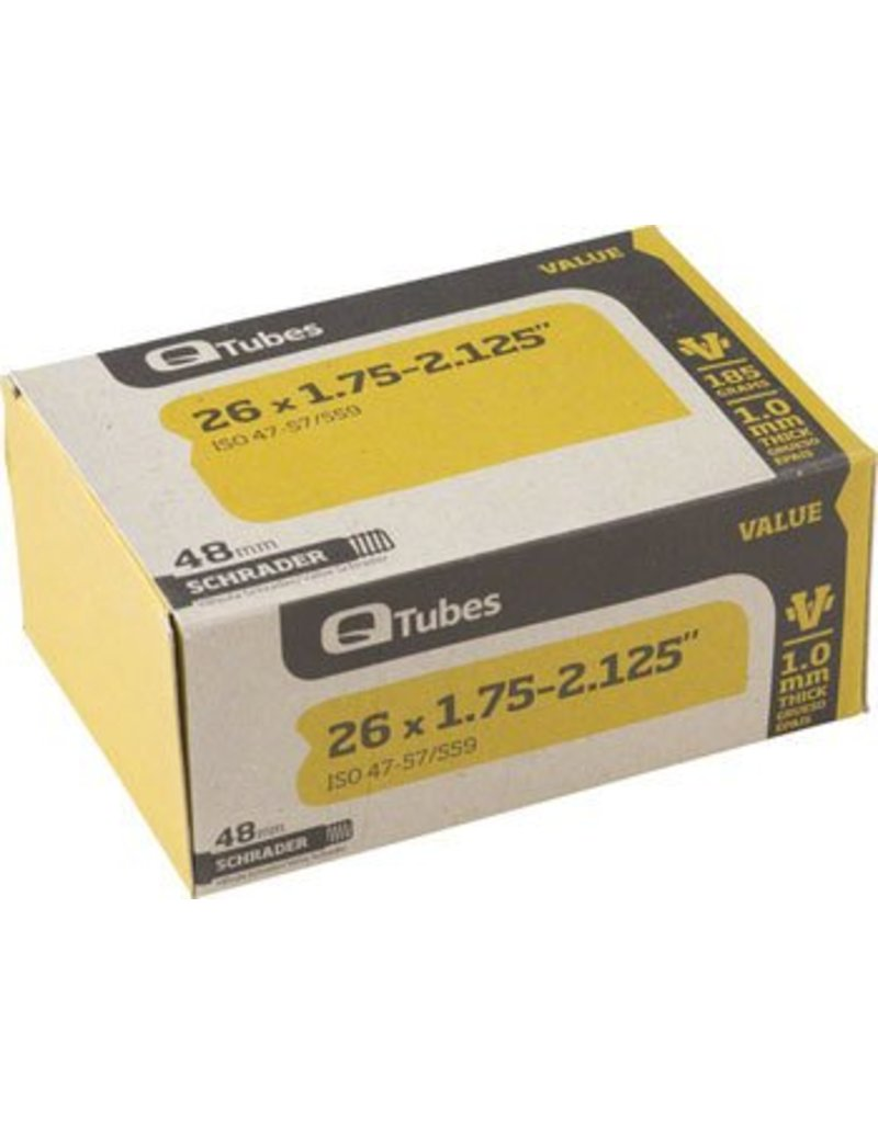 26x1.75-2.125 Q-Tube Value Series Tube w/ Long (48mm) Schrader Valve