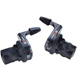 SRAM SRAM X0 3 x 9 Speed Twist Shifter Set, Left Shifter is Microfriction