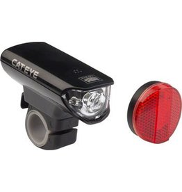 CatEye CatEye Headlight and Taillight Set EL125 And AU165: Black