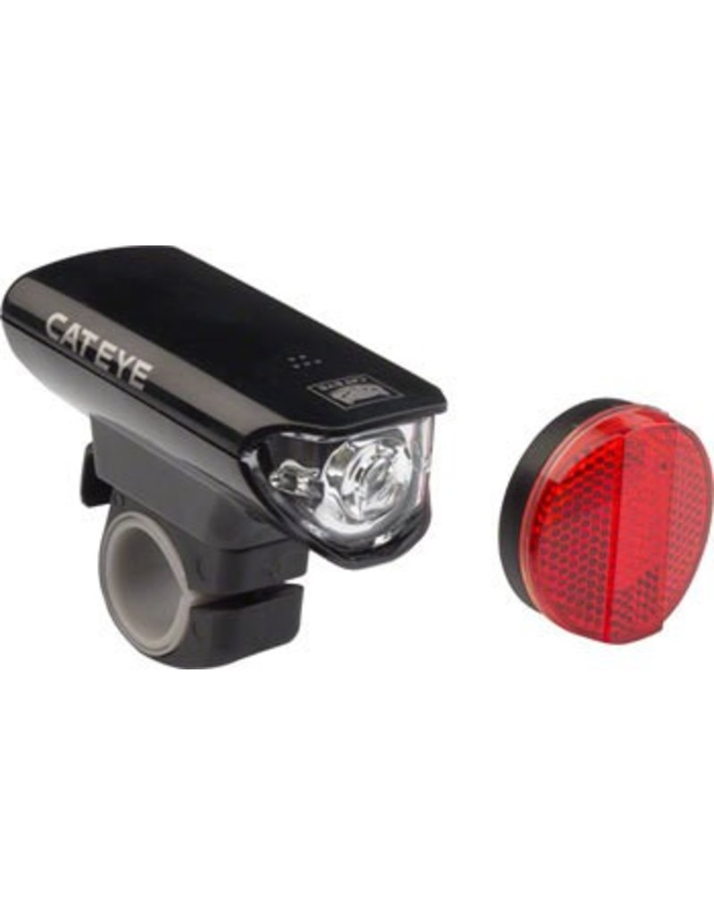 CatEye CatEye Headlight and Taillight Set EL125 And AU165: Black