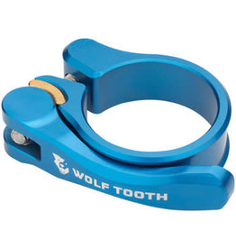 Wolf Tooth Components Wolf Tooth Components Quick Release Seatpost Clamp - 28.6mm, Blue