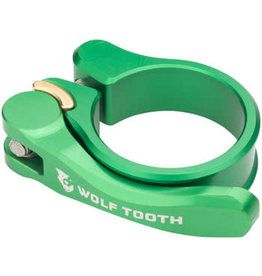 Wolf Tooth Components Wolf Tooth Components Quick Release Seatpost Clamp - 28.6mm, Green